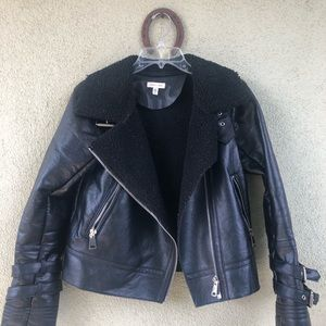 SILENT NOISE FAUX LEATHER BOMBER